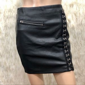 LF Skirts - LF One Way Faux Leather Skirt. Size 8